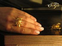 Scarab Ring in Polished Gold Steel