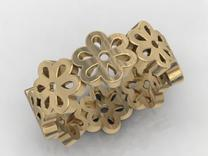 flower band #2 in Matte Gold Steel