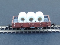 Wagon Set 2 - 3 x Plat - Nm - 1:160 in Frosted Ultra Detail