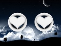 Heart 12mm (1/2 inch) plugs/tunnels in White Strong & Flexible Polished