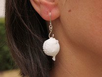 Blowfish Earrings - Hooked in White Strong & Flexible Polished