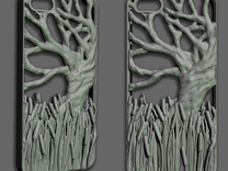 Iphone 5 Case - Tree with Cattails in White Strong & Flexible