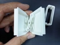 Ultra Slim Ring Box with Spinning Ring Feature in White Strong & Flexible