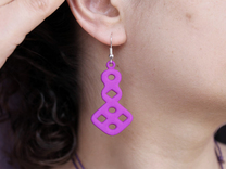 Circles & Squares Earrings in Purple Strong & Flexible Polished