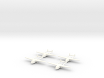 Go-242 German Glider 1/600 X4 in White Strong & Flexible Polished
