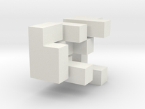 3D Puzzle Cube in White Strong & Flexible