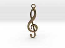 Violin Key Pendant in Raw Bronze