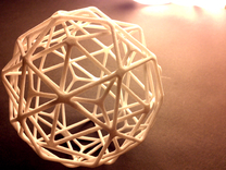Medium Nested Polyhedra in White Strong & Flexible