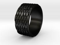 Tread lightly Ring Size 7 in Matte Black Steel