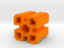Geometry Dash 2 Demon Icon in Orange Strong & Flexible Polished