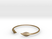 "Leaf Torc 5"" Diameter in Polished Gold Steel"