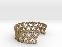 FLYHIGH: Open Heart Double Bracelet in Polished Gold Steel
