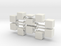 1x2x5 V2 in White Strong & Flexible