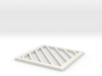 Table Coaster 1.1 in White Strong & Flexible