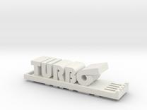 Miata Turbo Keychain in White Strong & Flexible