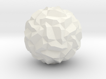 Stellated Pentagonal Hexecontahedron in White Strong & Flexible