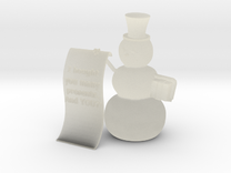 Snowman wishlist in Transparent Acrylic
