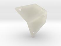 d12 caltrop blank in Transparent Acrylic