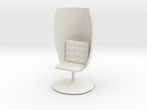 GlassChair_6cm in White Strong & Flexible