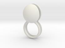 scharnierring met stenen in White Strong & Flexible