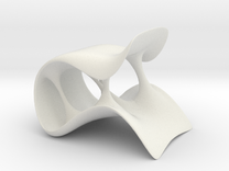 Streach Chair-smaller in White Strong & Flexible