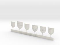 Wargames Shields set N°2 in White Strong & Flexible