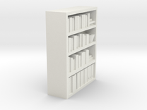 Bookcase for scale 1:72 in White Strong & Flexible
