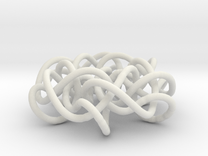 Prime Knot 6.63 in White Strong & Flexible