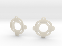 Earrings 2 entwined in White Acrylic