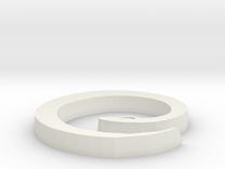 Snake Pendant 2 in White Strong & Flexible