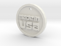 Born in USA Necklace in White Strong & Flexible