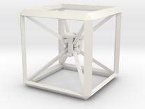 Guy Dascalu D6 dice unique design in Transparent Acrylic