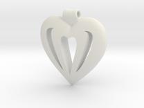 Heart Pendant in White Strong & Flexible