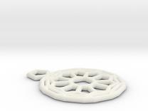 Fullerene pendant in White Strong & Flexible