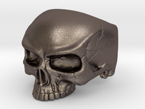 Ring HalfSkull Size 9.5 in Stainless Steel