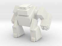 Robot 0043 Mech Bot Big Gun Arms in White Strong & Flexible