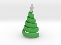 Xmas Swirl Tree smaller in Full Color Sandstone