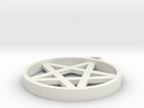 Simple Pentagram Pendant in White Strong & Flexible