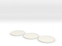 Round Model Base 60mm X3 in White Strong & Flexible