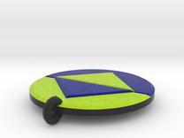 Viral Icon Pendant Small in Full Color Sandstone