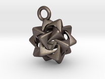 Compound of Five Rounded Tetrahedra Pendant in Stainless Steel