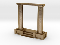 Column Picture Frame in Polished Gold Steel