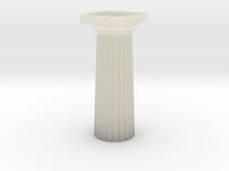 Parthenon Column Top (Hollow) 1:100 in Transparent Acrylic