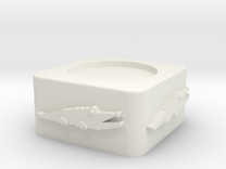 Croc Egg Cup Unshelled in White Strong & Flexible