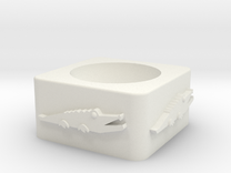 Croc_unshelled_2 in White Strong & Flexible