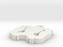 Sutton Hoo Pendant in White Strong & Flexible