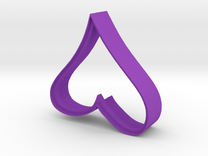 Cookie Cutter - Decorative Heart Imprinted in Purple Strong & Flexible Polished