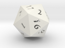 "D20 Hollow Large 3"" in White Strong & Flexible"