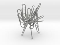 Paperclip Sculpture/Holder in Metallic Plastic