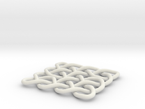 Celtic Knot 2D, seed 12 in White Strong & Flexible